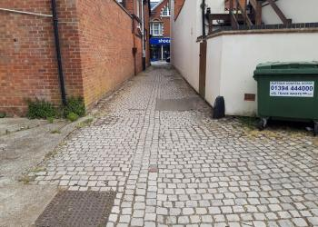Felixstowe alleyway after 1