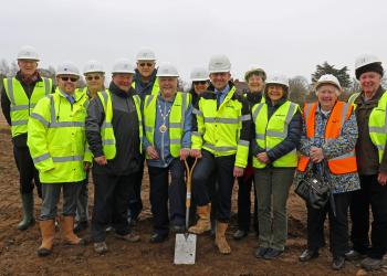 Reydon start on site group shot
