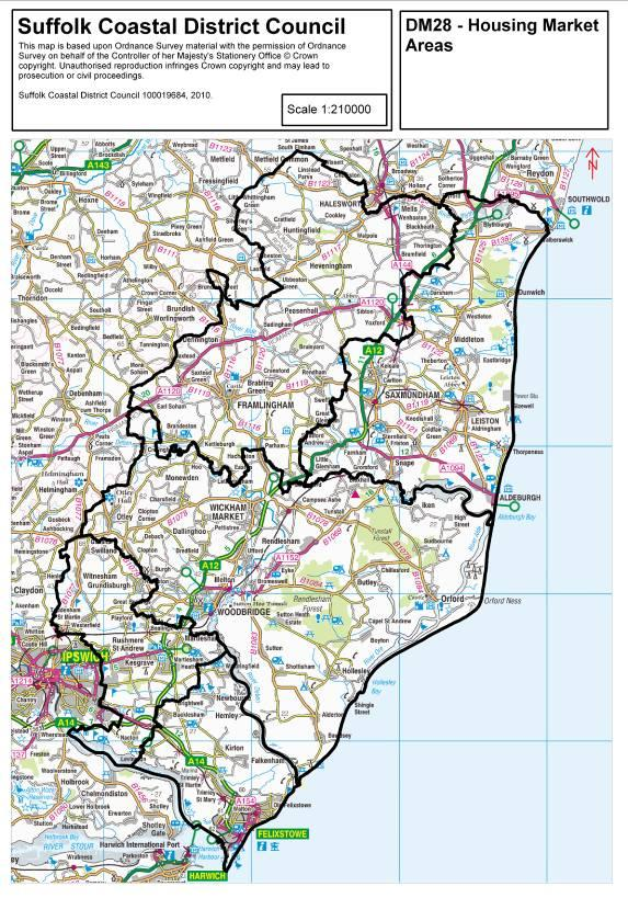 Map Of Suffolk Coast Issues and options consultation » Suffolk Coastal and Waveney  Map Of Suffolk Coast