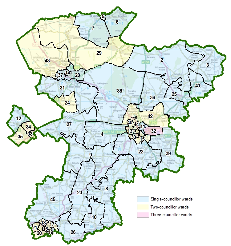 Map Of Uk Councils.Have Your Say On Ward Boundaries For Suffolk S Newest Two Councils